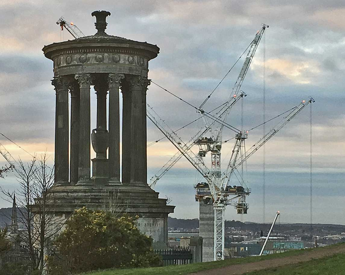 Calton Hill skyline by MAAC Studio conservation architects Inverness
