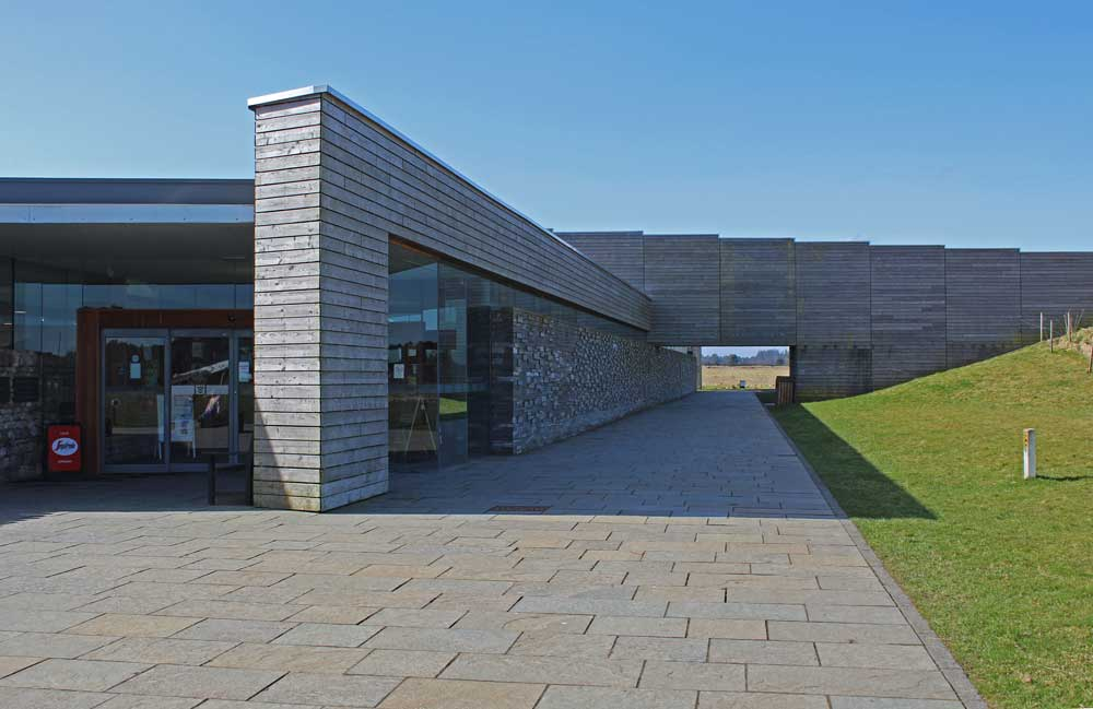 Entrance to culloden visitor centre Inverness Hoskins Architects