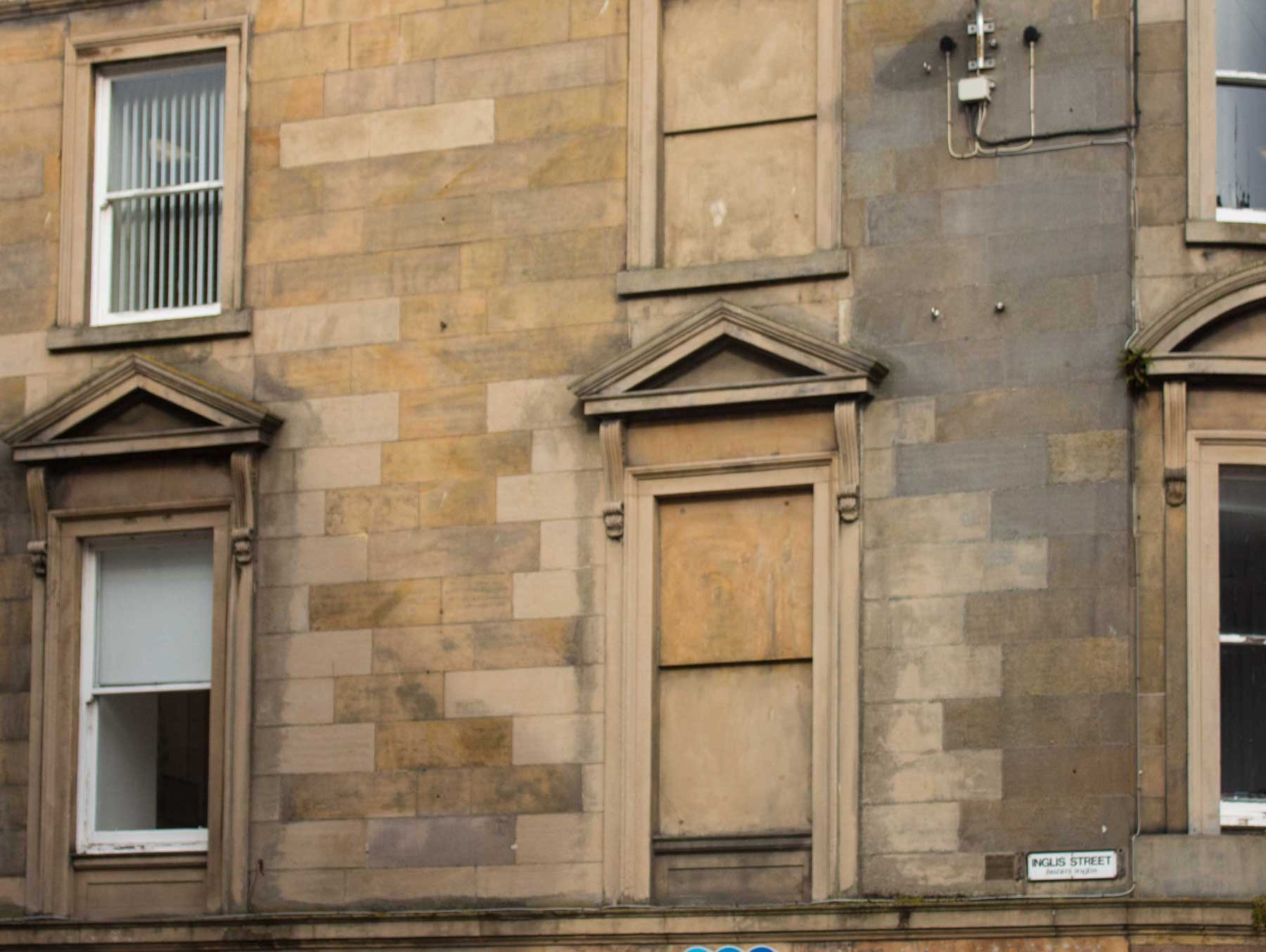 Indented stone Inverness High Street