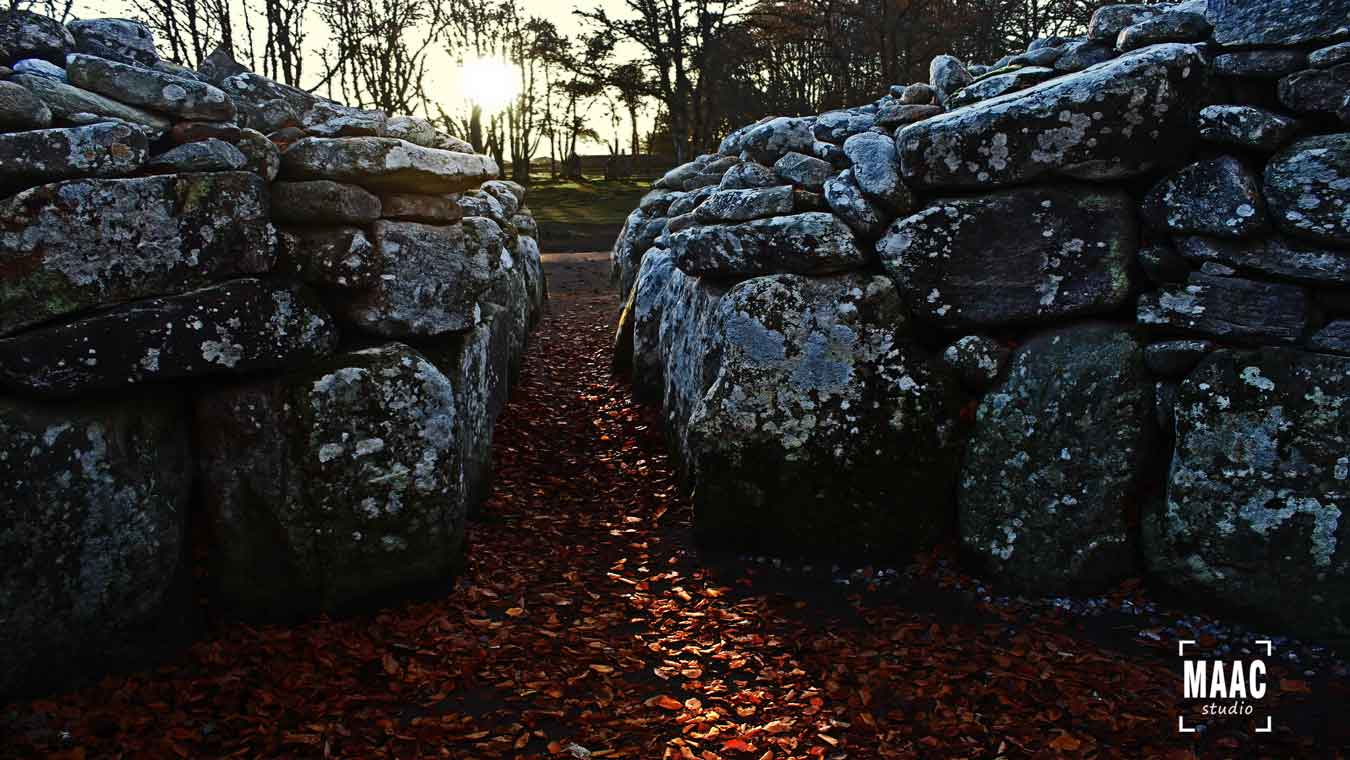 Clava Cairns Inverness Sunset on Winter Solstice