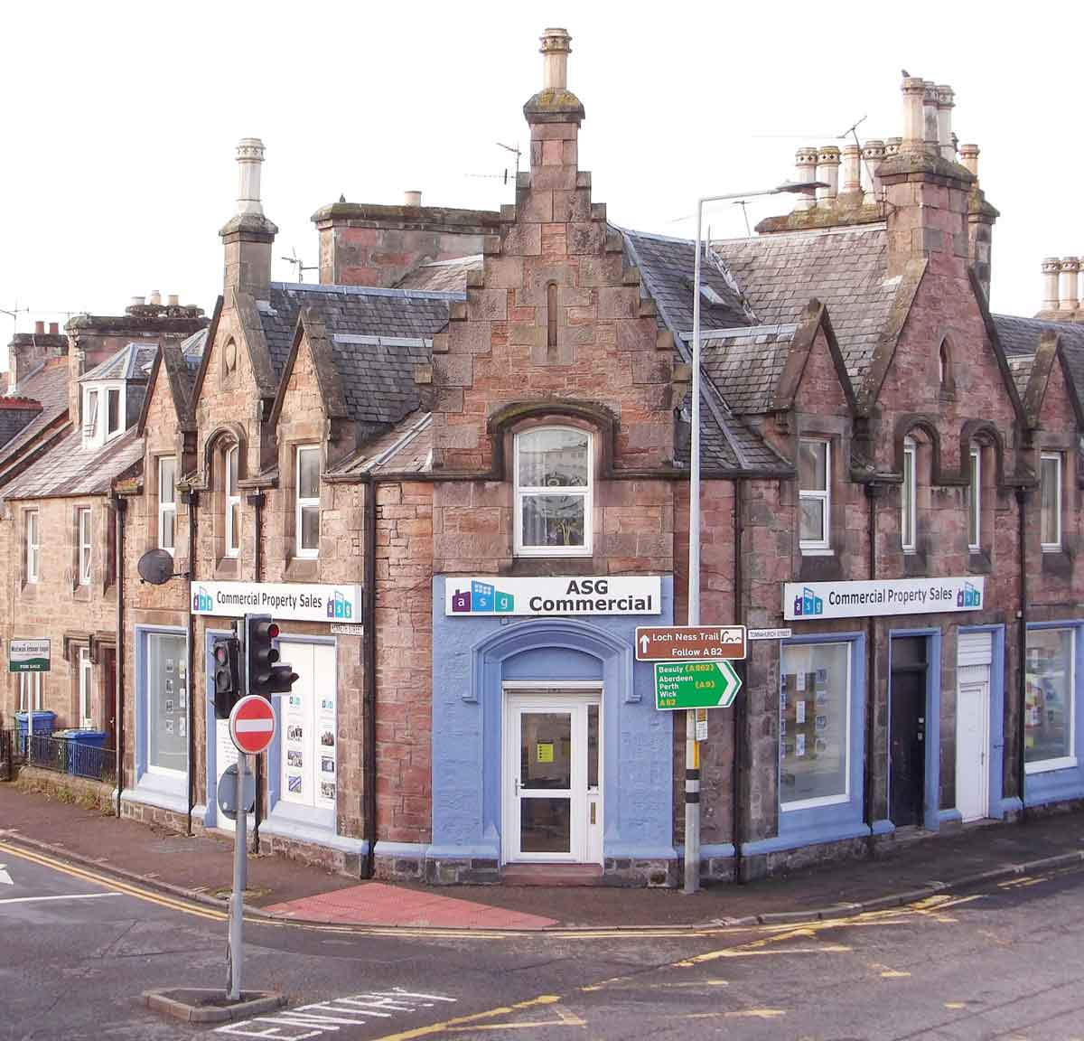 Kenneth Street Inverness showing heritage features of significance