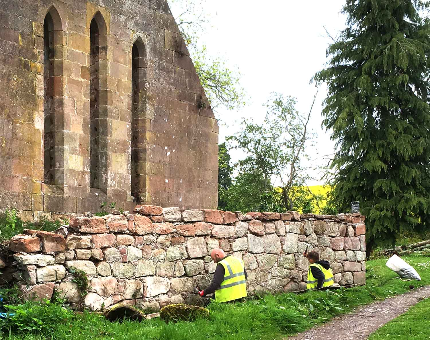 Stone repair and conservation at St Johns Chapel on the Black Isle