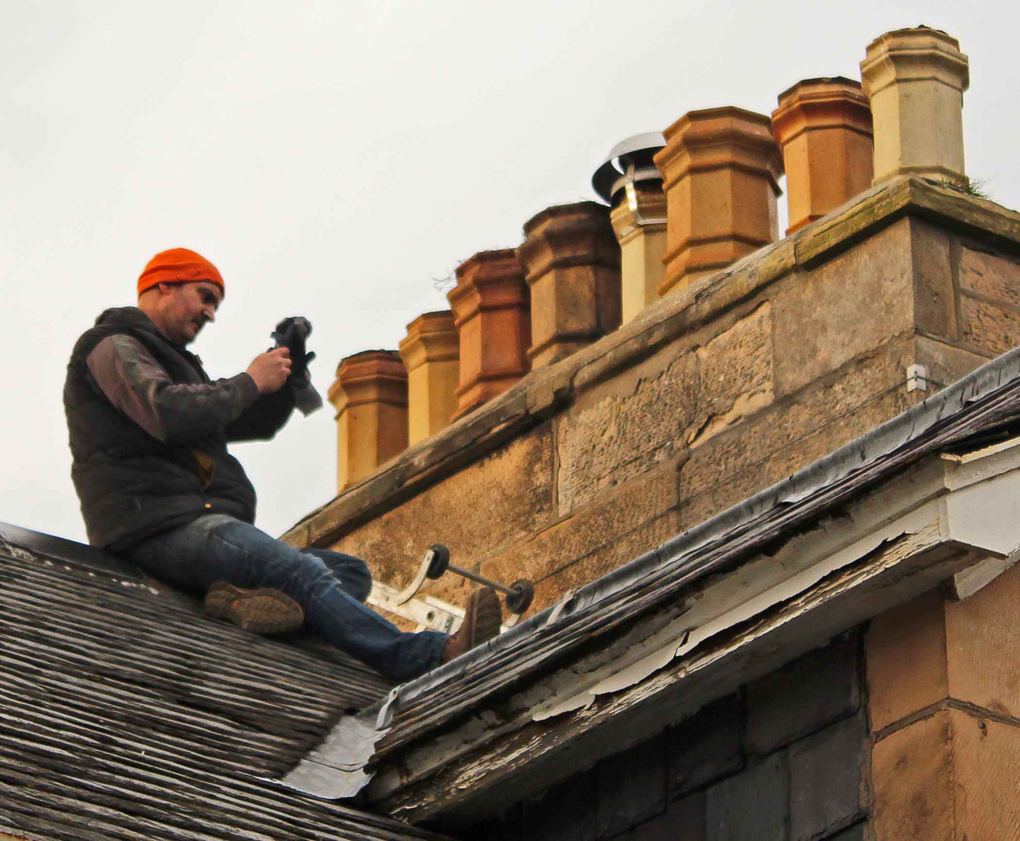 Detailed stone survey on chimney in Forres MAAC Studio conservation architect