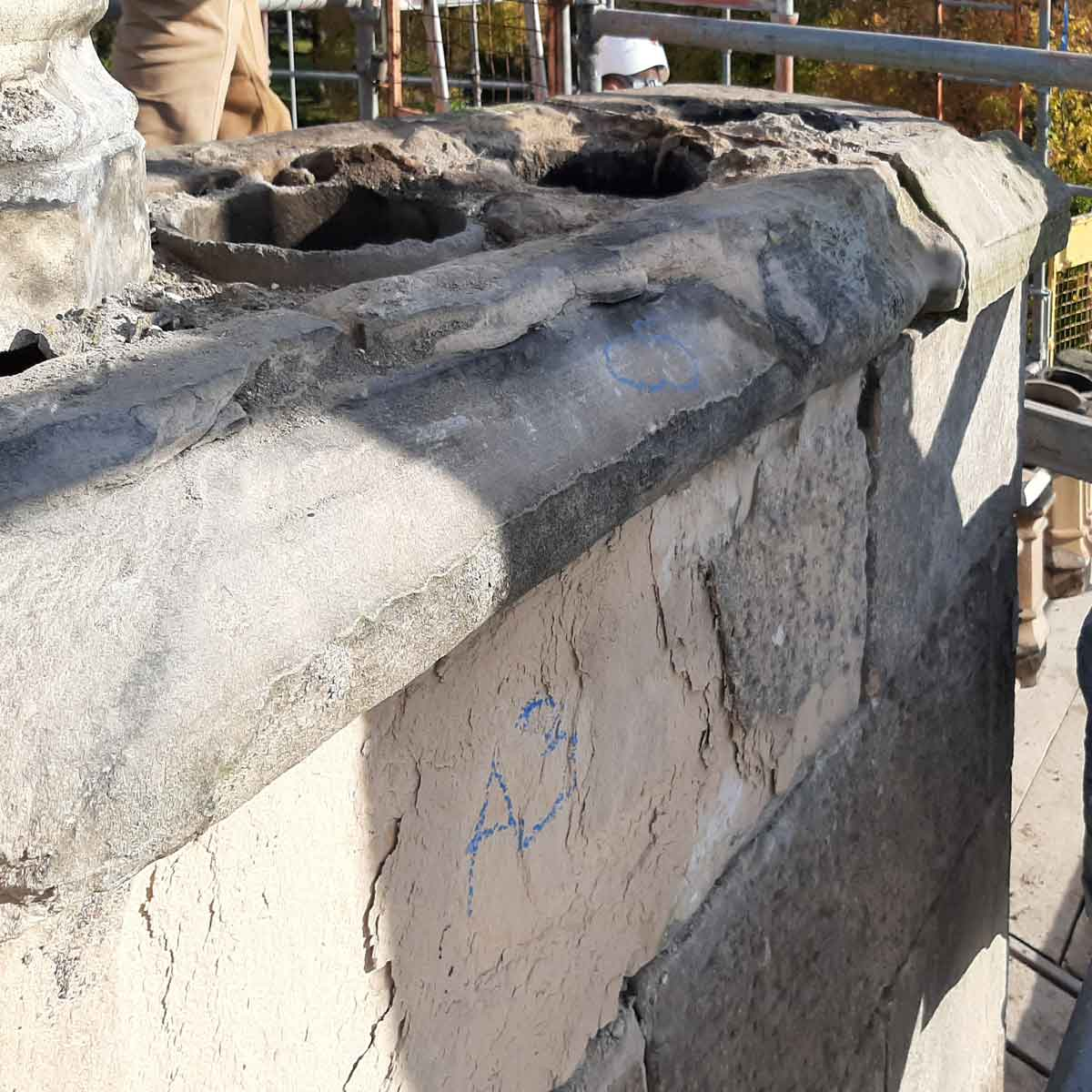 Weathered Chimney head repairs Forres MAAC Studio conservation architect