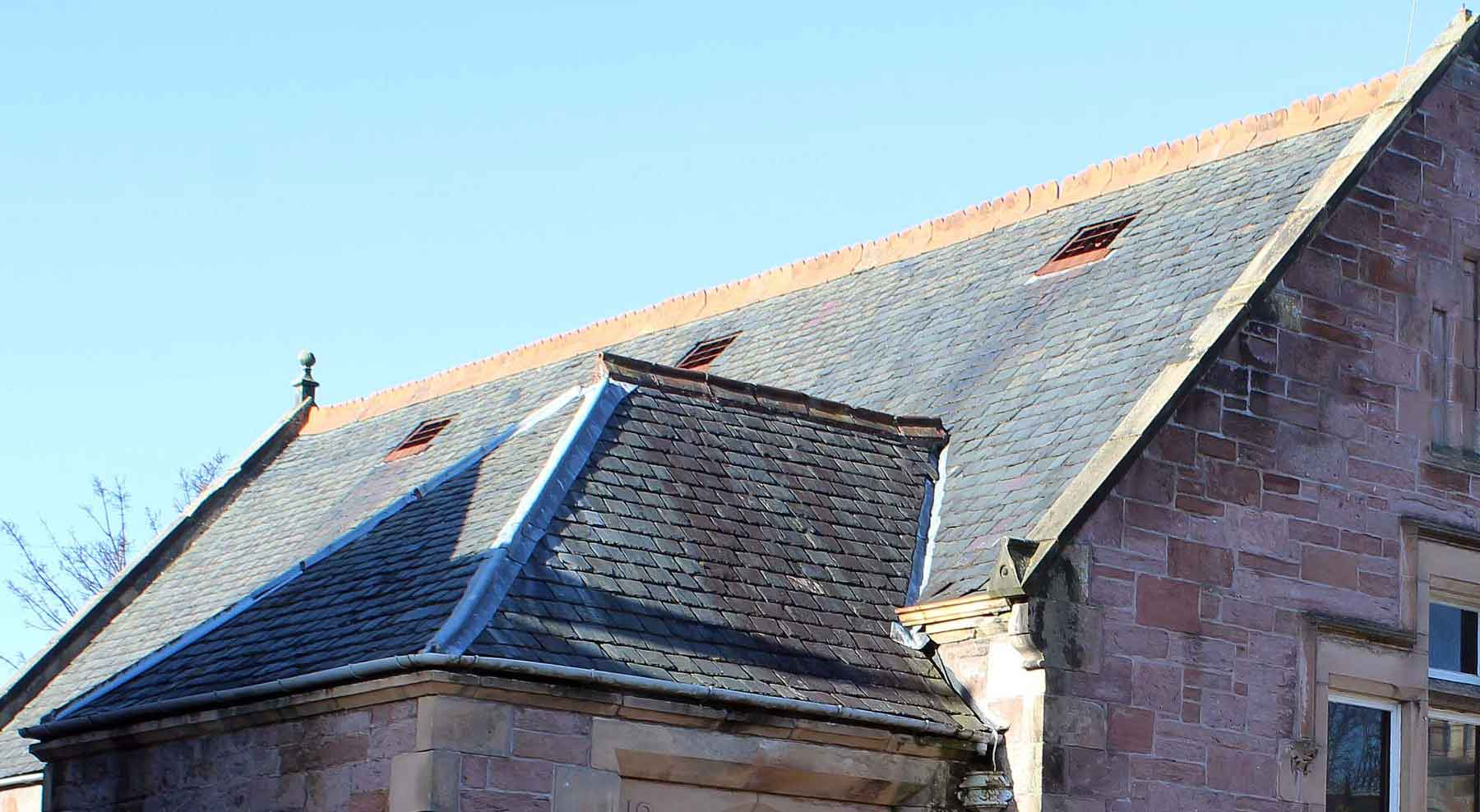 community hall and church roofs have to deal with climate change MAAC Studio conservation architect Inverness Edinburgh