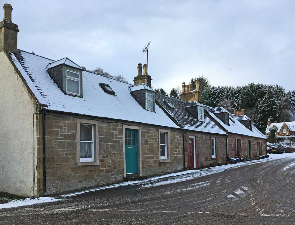 Frost reveals heat loss in traditional properties